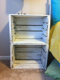 Room Renovation Project #2: Apple Crate Bedside Tables