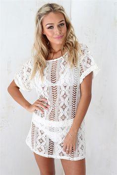 resort chic, white clothing, white dresses, feminine, women's fashion, spring, summer, coverup