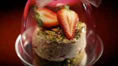 Pistachio and Strawberry Mousse with a Dacquoise Base -My Kitchen Rules - Yahoo!7 TV