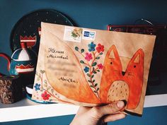 Fox / envelope / cute / drawing