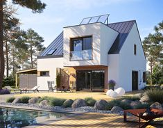 MODERN HOUSE - EX 20 G2 on Behance Style At Home, Building Drawing, Dormer Windows, Exterior Cladding, Modern Exterior, Home Fashion, Interior Styling, Interior Design, Future House