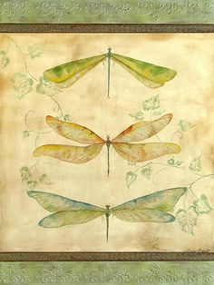 New Print Available! - 'Dragonfly Trio' - http://fineartamerica.com/featured/dragonfly-trio-jean-plout.html via @fineartamerica