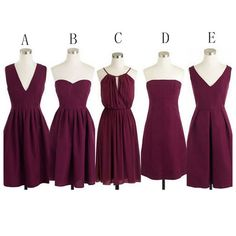 Burgundy short bridesmaid dresses,cheap bridesmaids dresses