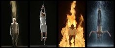 Martyrs (Earth, Air, Fire, Water) – Bill Viola's permanent installation at Saint Paul's Cathedral, 2014