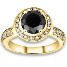 4.64 ctw 14k YG AAA Black, Accent I-J Color, VS - SI Clarity Diamonds Engagement Ring http://www.pricepointshop.com/product.asp?idproduct=36048 With like a blue topaz or pink tourmaline ❤