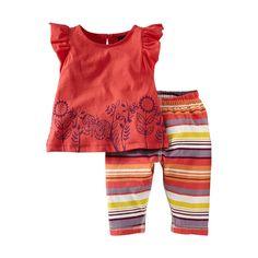 Butterfly Stripe Baby Outfit