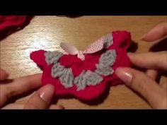 ΠΟΛΥ ΕΥΚΟΛΗ πλεχτη τρισδιαστατη πεταλουδα!!! - VERY EASY 3D crochet butt...