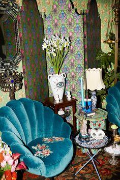 gucci opens pop-up apartment store during milan design week Estilo Kitsch, World Of Interiors, Aesthetic Room Decor, Dream Apartment, Room Ideas Bedroom, Dream Decor, Dream Rooms, Cool Rooms, My New Room