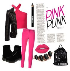 """""""Pinky Punk"""" by kiyourachihiro on Polyvore featuring Kenzo, T By Alexander Wang, Anine Bing, Dr. Martens, Lime Crime, Ardency Inn and Moschino"""
