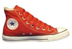 Converse Chuck Taylor All Star Hi Top Red Canvas Shoes with Extra Pair of Red Laces