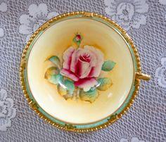 STUNNING RARE Paragon Tea Cup and Saucer Hand by TeacupsAndOldLace