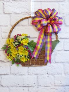 Easter Basket Wreath Easter Decor Spring Wreath by Dazzlement, $39.00