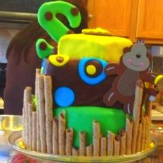 Baby shower for baby boy cake