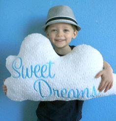 Cloud Pillow  Plush Cloud Nursery Decor  by TheButtercupBoutique, $32.00