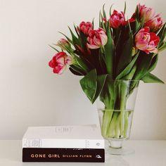Parrot tulips & books © Natasha Calhoun via beautifully, suddenly: this week ...