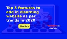 Create a unique online identity of your ELEARNING WEBSITE with top 5 essential features.   Follow the 2020 TRENDS to reach more students globally and stay ahead of competition.   SynapseIndia offers education WEBSITE DEVELOPMENT SERVICES. Website Development Company, Software Development, Elearning Industry, Have Time, Effort, Competition, Ads, Competitor Analysis, Education