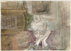 Jan Toorop Portret of Annie Josephine Hall (1860-1929)