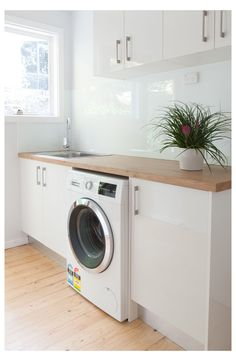 Budget Friendly Laundry Designs & Renovations Melbourne Did you know Kitchen Shack also designs small, medium & large laundries for homes in Melbourne? We have an extensive range of benchtops, fixtures & fittings Laundry Nook, Laundry Room Layouts, Laundry Room Remodel, Laundry Decor, Laundry Room Organization, Small Laundry, Laundry In Bathroom, Attic Remodel, Modern Laundry Rooms