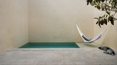 Residents of this getaway in Mexico can spend weekends lazing in a hammock suspended above a secluded swimming pool.