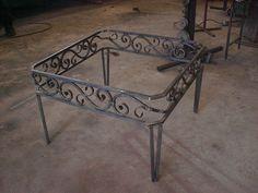 Custom made iron table for customer.