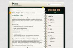 Diary blogger template Diary blogger template