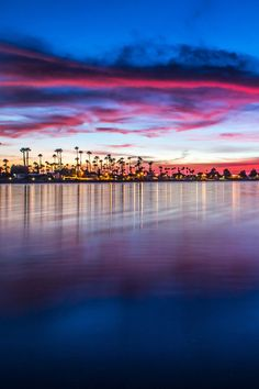 California shores at dusk, USA