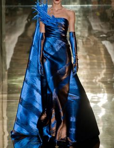 Georges Chakra Fall 2012 Couture.  Love the blue - wadulifashions.com. Wish I had somewhere to wear it....