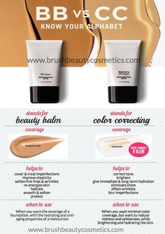 Finally a clear and easy explaination for these must have beauty products! Shop them now at www.brushbeautycosmetics.com