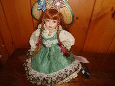 Carly, With Braided Red Hair - Collectible Memories Porcelain Doll  #CollectibleMemories