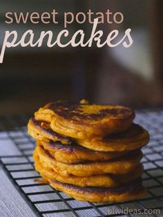 Sweet potato pancakes. Baby led weaning. 6 months and up.