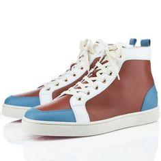 Christian Louboutin Rantus Orlato Mens Flat Sneakers Brown Blue