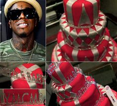 Lil Wayne's diamond studded birthday cake for 29th b'day