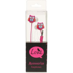 Accessorize Oliver Owl Earphones, $23