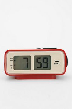 Retro LCD Alarm Clock #urbanoutfitters I want my small space to be AWESOME. I entered the #UrbanOutfitters Pin A Room, Win A Room Sweepstakes! #smallspace