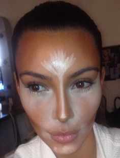 A lesson in contouring by Kim Kardashian's makeup artist.