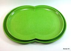 Branchell Melmac Set of 2 Serving Platters by BrandyHillCottage