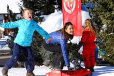 7-year-old Princess Isabella is having a ball in the snow 8 February 2015.