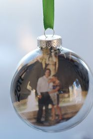 Rust & Sunshine: 12 Days of Christmas Ornaments - Day 3: Photo Bulbs For the Newlyweds
