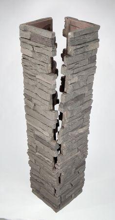 NextStone Faux Stone Split Post Covers
