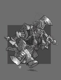 Dwarf Barbarian by cwalton73.deviantart.com on @DeviantArt