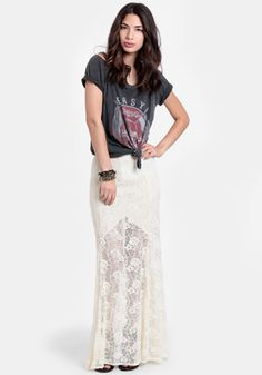 Street Fair Crocheted Lace Maxi Skirt - $44.00 : ThreadSence, Women's Indie & Bohemian Clothing, Dresses, & Accessories