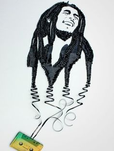 Bob Marley made with tape