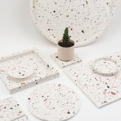 Katie Gillies Surface Design Terrazzo, Beginner Pottery, Concrete Sculpture, Milk Shop, Flower Graphic, Interior Design Business, Surface Design, Surface Pattern, Clay Ornaments