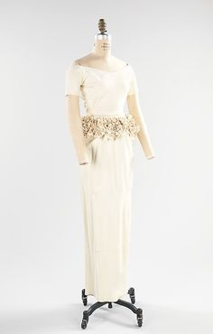 Bonnie Cashin (American, 1915–2000). Wedding Dress, 1953. American. The Metropolitan Museum of Art, New York. (2009.300.8a, b) #wedding