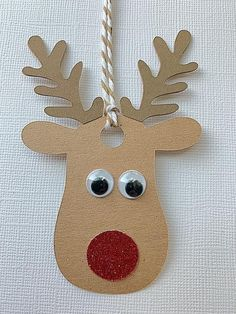 Rudolf the red nosed reindeer favor tags/gift tags Etsy Christmas, Christmas Paper, Kids Christmas, Preschool Christmas Crafts, Holiday Crafts, Reindeer Craft, Christmas Decorations, Christmas Ornaments, Christmas Gift Wrapping