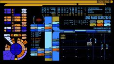 Star Trek LCARS graphic interface designed by scenic art supervisor and technical consultant Michael Okuda.