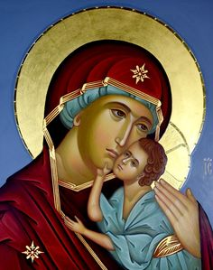 Maria Madonna icon painting garnment Icongraphy folders