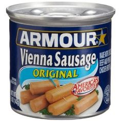 Armour Vienna Sausages!  Great low carb snack !