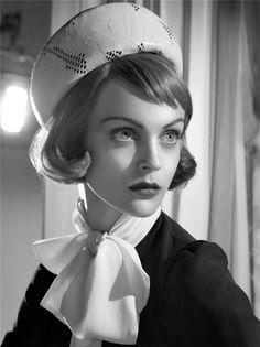 Vintage-Inspired: Viktoriya Sasonkina by Steven Meisel for Vogue Italia, September 2008