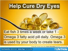 Home Remedies - Help Cure Dry Eyes